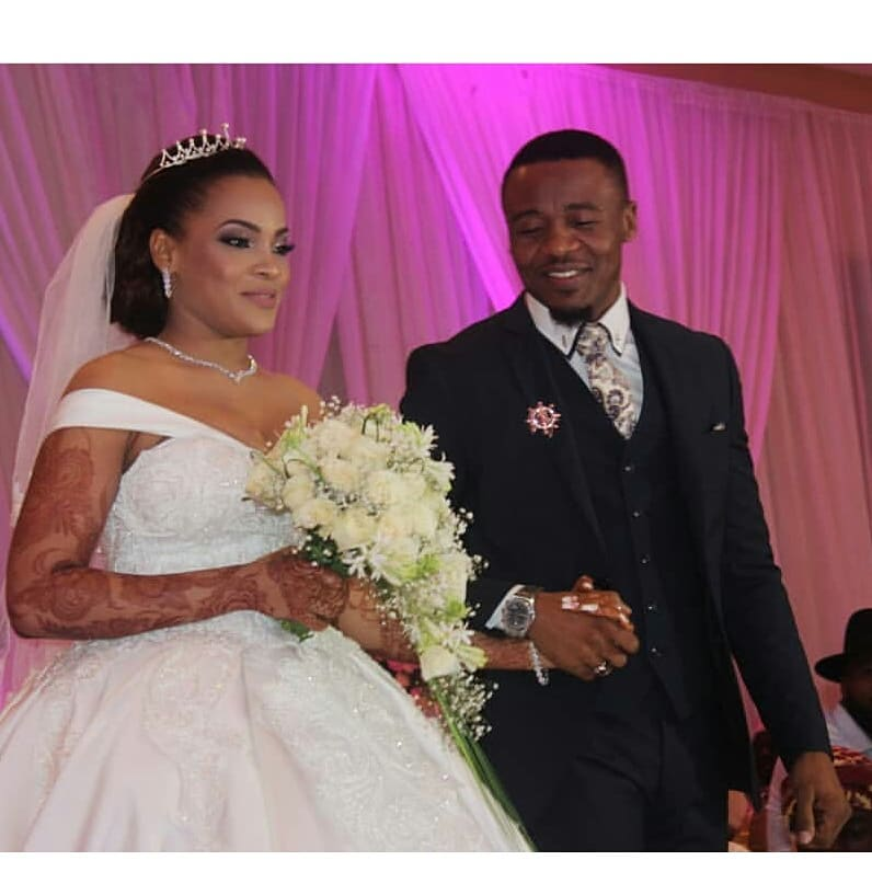 Alikiba and his wife during their white wedding