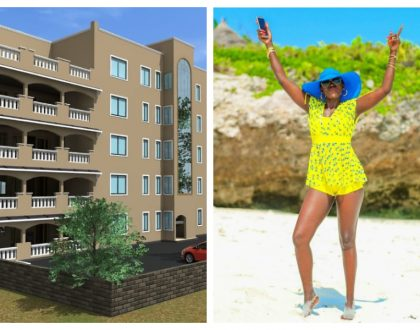 """I don't sleep on my dream I go for it"" Akothee unveils new apartment building (Photos)"