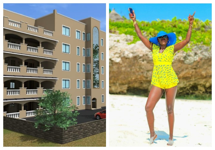 """I don't sleep on my dream I go for it"" Akothee unveils new apartmentbuilding (Photos)"
