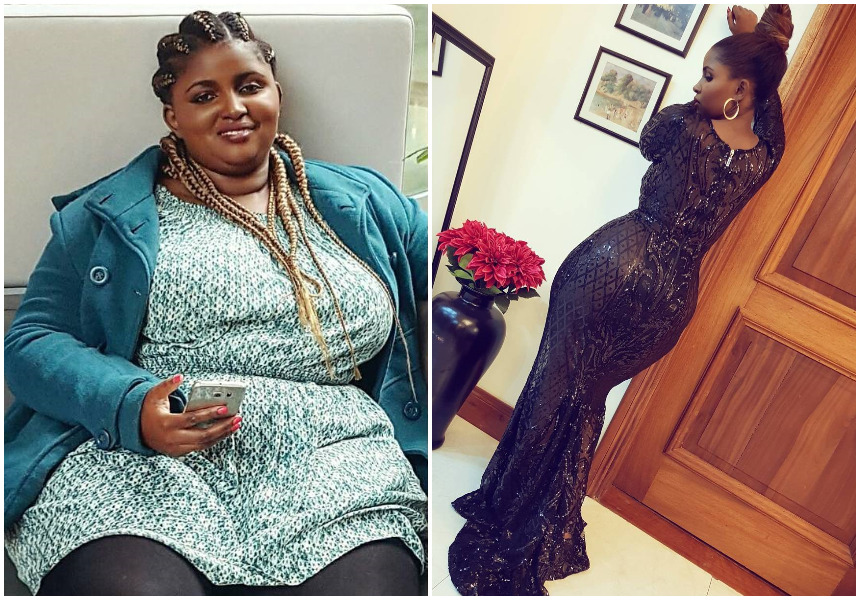 Anerlisa Muigai before and after losing weight