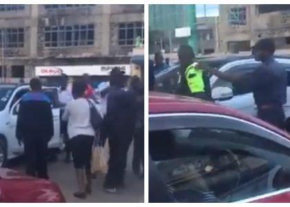 Drama in Westlands after Indian lady allegedly calls Kenyans 'Black Monkeys'(video)