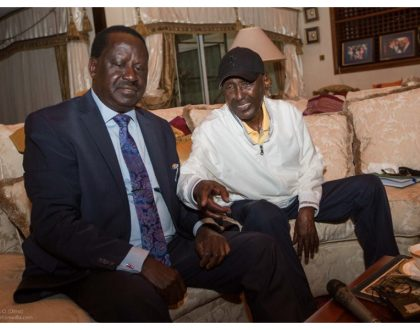 """""""I know now who are true friends of mine"""" Sickly Chris Kirubi says after meeting Raila Odinga, asks Baba for one favor"""