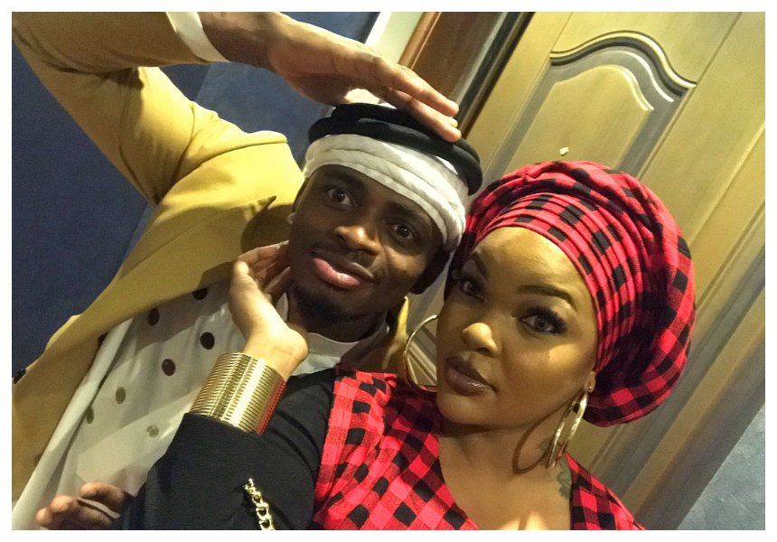 In pictures: Diamond and Wema Sepetu goofing around in Hamisa Mobetto's presence