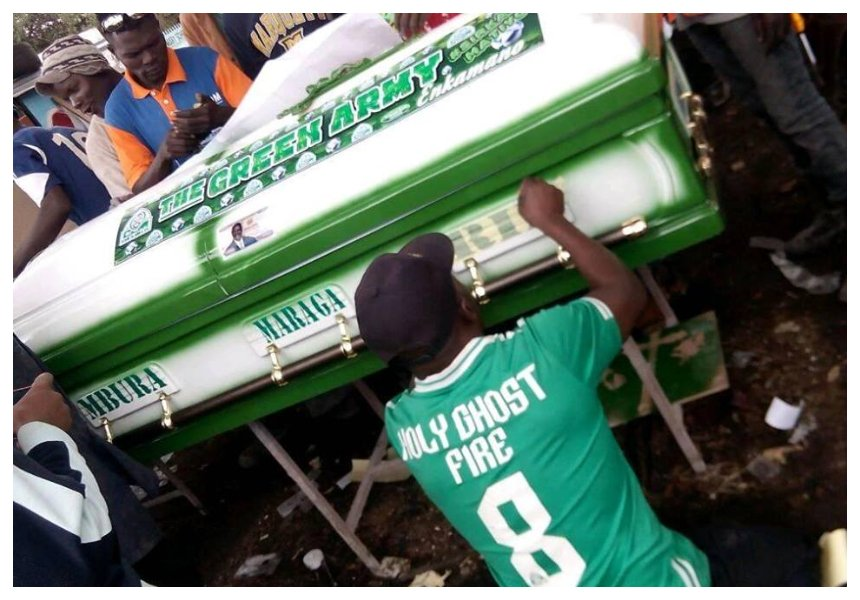 Going six feet under in ultimate style! Gor Mahia fans killed in grisly accident to be buried inpimped-up coffins (Photos)