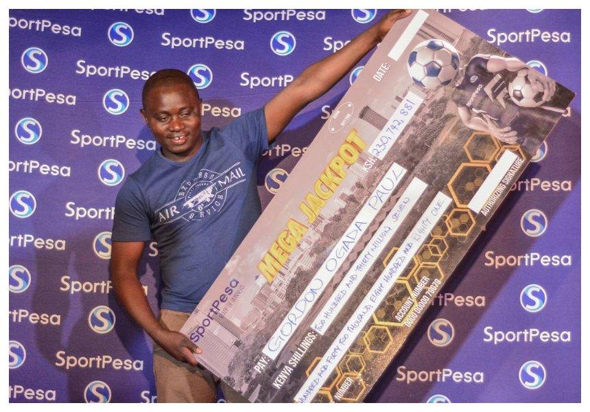Ujaluo gharama kweli!Kes 230 millionSportPesa mega jackpot winner admits he has alreadysquandered all the money he won
