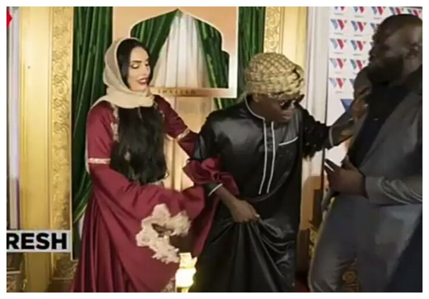Diamond's bodyguard meets Harmonize and his girlfriend after the cheating allegation (Photos)