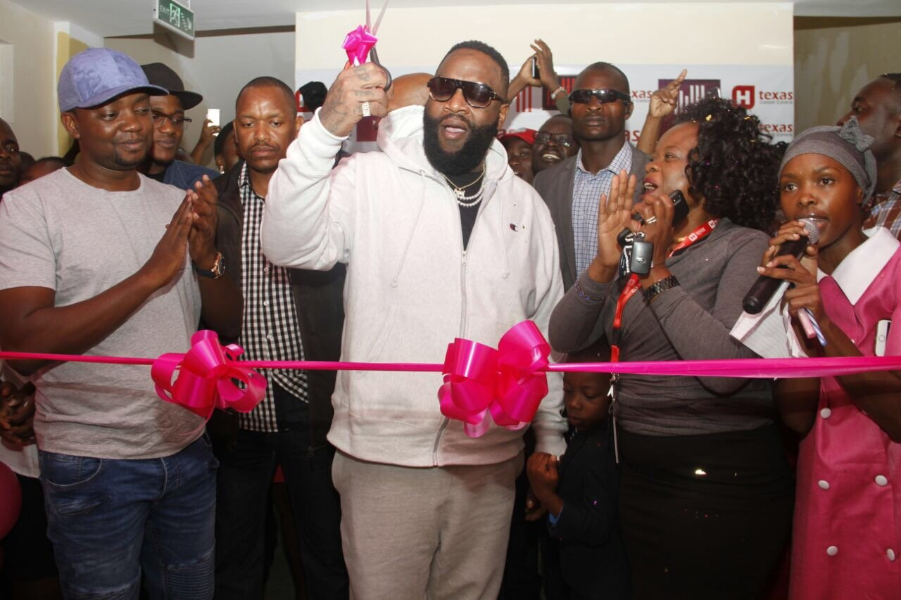 Rick Ross pulls a unique move just to visit the Texas Cancer Center (Photos)