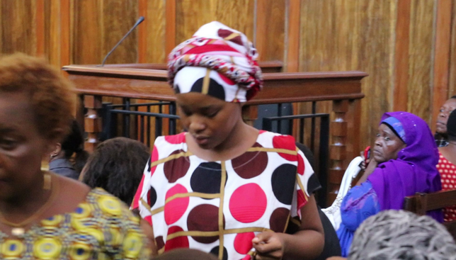 Elizabeth Michael Lulu in court in November 2017 when she was handed the two-year prison term