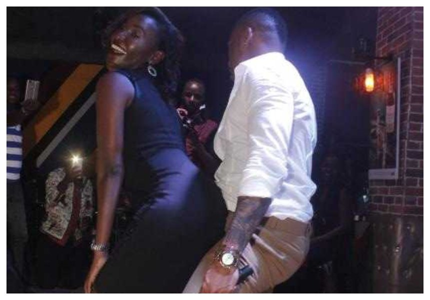 Vera come see this! Otile Brown daggers a woman so hard at High Club (Photos)
