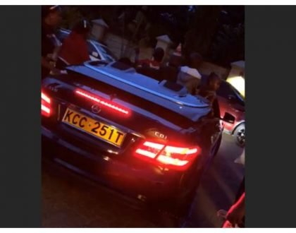 Sonko's adopted son Satrine Osinya surprised with a new Mercedes Convertible for his 6th birthday