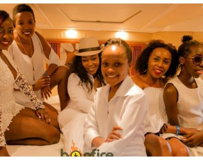 TV girls Terryanne Chebet, Kirigo Ng'arua, Jacque Maribe and Shix Kapienga party hard on a yacht (Photos)