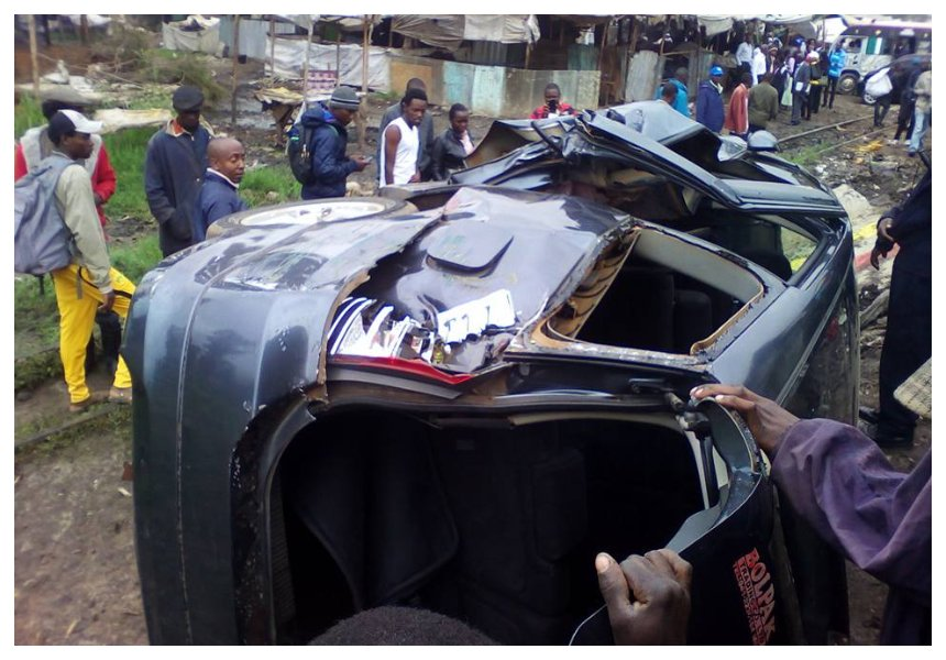 Two escape unhurt after train rams their auto in Mutindwa accident