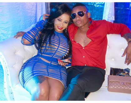 """I love that China"" Otile Brown responds to critics calling Vera Sidika's fake body 'China'"