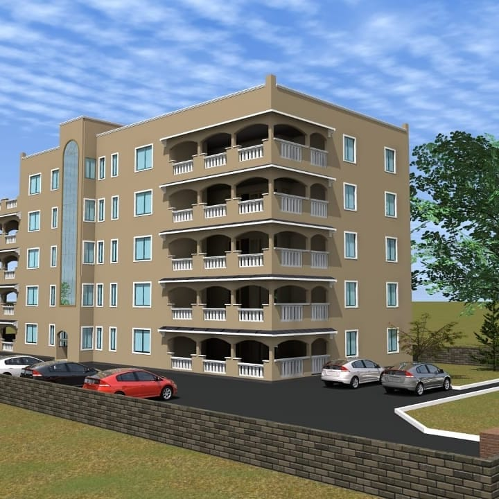 Artistic impressions of Akothee's apartment building