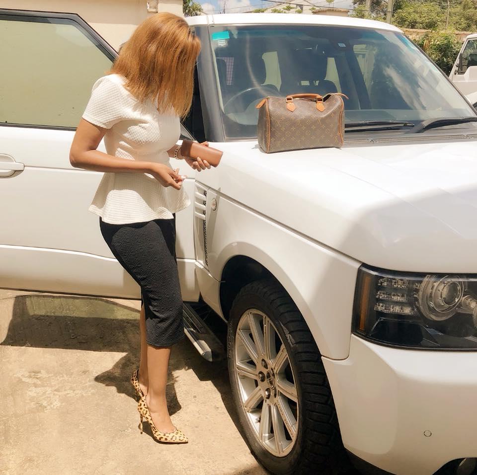 Doreen Gatwiri flaunts her British machine