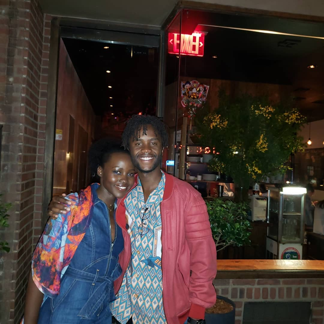 Lupita with her brother Junior Nyong'o