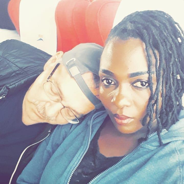 Nyota Ndogo with her husband