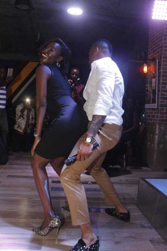 Otile Brown grinds on a lady who danced with him