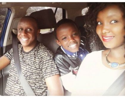 Priceless! Catherine Kamau's husband and step son serving 'daddy and son' goals with new photo