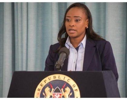 Lulu Hassancaught unawares watching her BFF Kanze Dena addressing media inmaiden State House press briefing