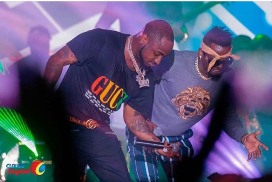 Diamond and Davido perform in Dar