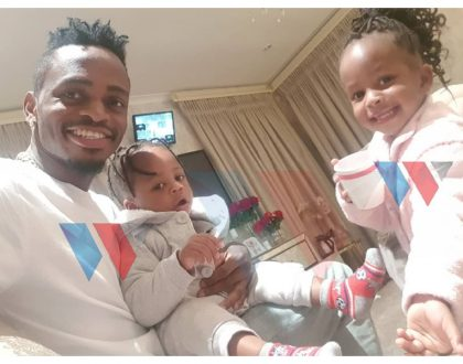 Diamond finally visits Zari at her home in South Africa days after his manager's visit (photos+video)