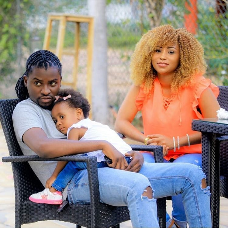 Petit Man with his daughter and wife Esma Platnumz