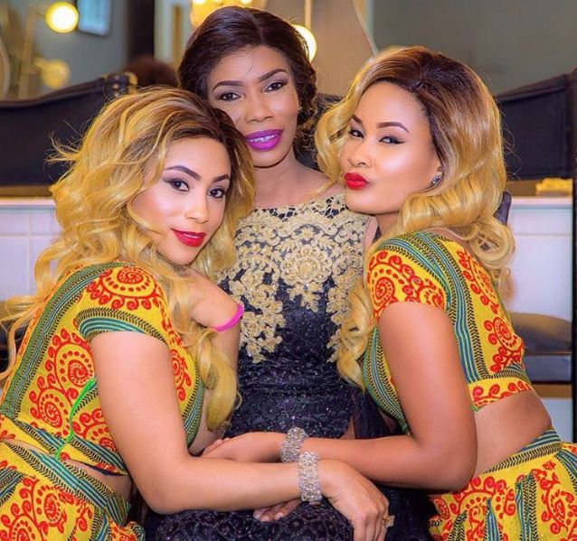 L-R: Esma Platnumz, Sanura Sandra and Hamisa Mobetto during good times