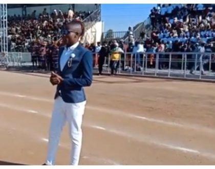 Gospel star Guardian Angel expresses his gratitude after thrilling president Uhuru in Meru