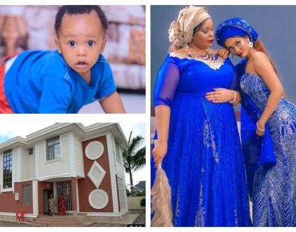 """Bila Dylan hatungepata hii nyumba"" Hamisa Mobetto's mom graciously thanks Diamond for buying his kid a mega mansion"