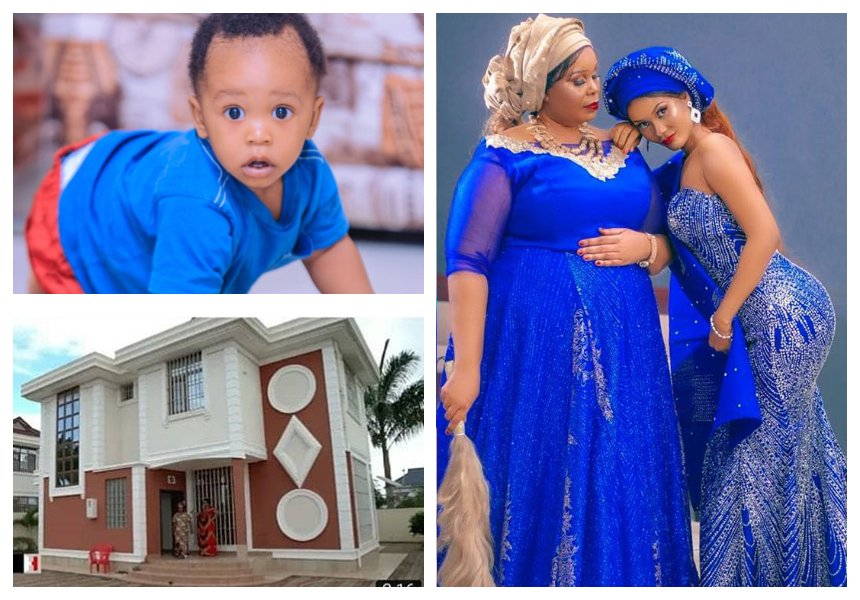 """Bila Dylan hatungepata hii nyumba"" Hamisa Mobetto's mom graciously thanks Diamond for buying his kid a mega mansion"