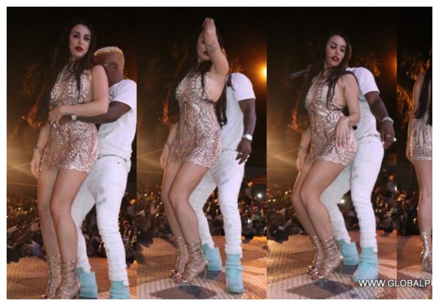 Harmonize and Italian girlfriend reconcile, go out partying together (Photos)