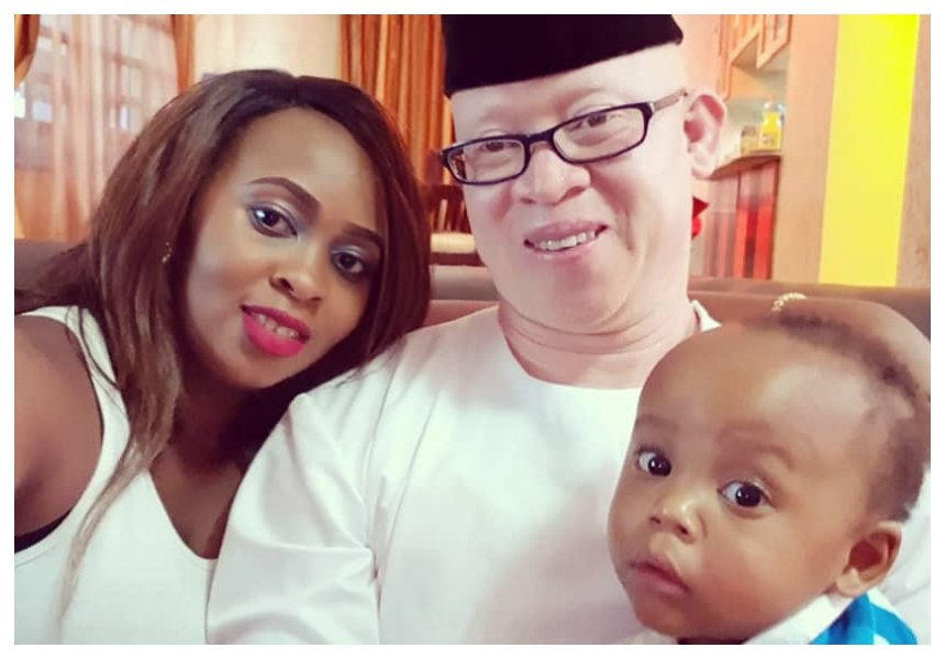 Isaac Mwaura's wife reads the riot act to people asking her why her son can't walk at one and a half year