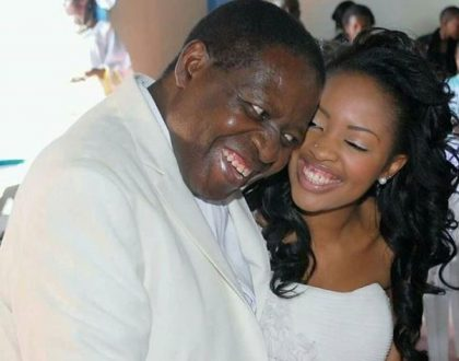 Kambua talks to her late dad from heaven during Father's Day