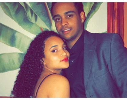 Kibaki's grandson Kibaki Junior and bae celebrate first anniversary together (Photos)