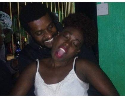 Papa Shirandula's Njoro snappedfrolicking with Akothee lookalike at a bar (Photos)