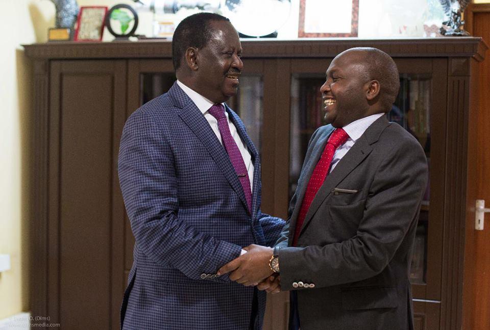 Raila Odinga and Donald Kipkorir