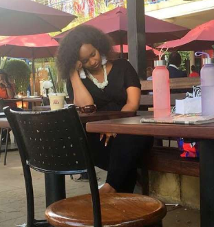 Kenyans make fun ofGrace Msalame after she was pictured dozing off at a popular eat out