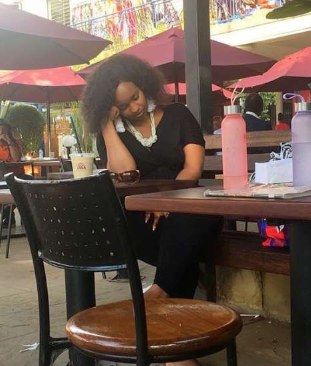 Kenyans make fun of Grace Msalame after she was pictured dozing off at a popular eat out