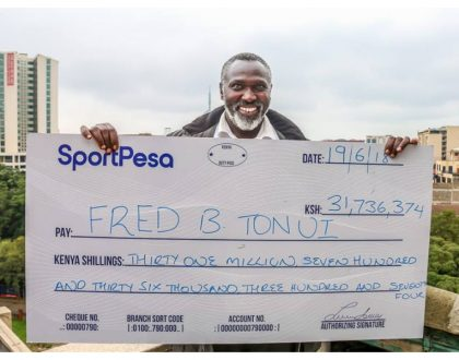 51 year old lab technologist from Londiani wins Kes 31 million SportPesa bonus