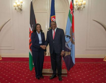 The message Uhuru Kenyatta had for Kanze Dena after her first day at work