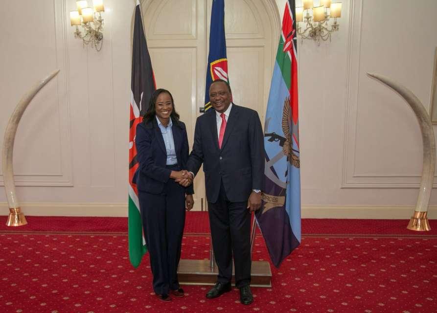 The message Uhuru Kenyatta had for Kanze Dena after her first day at work