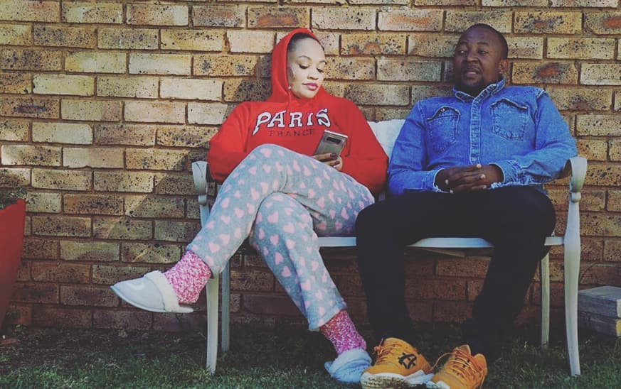 Zari Hassan with Babu Tale at her home in South Africa