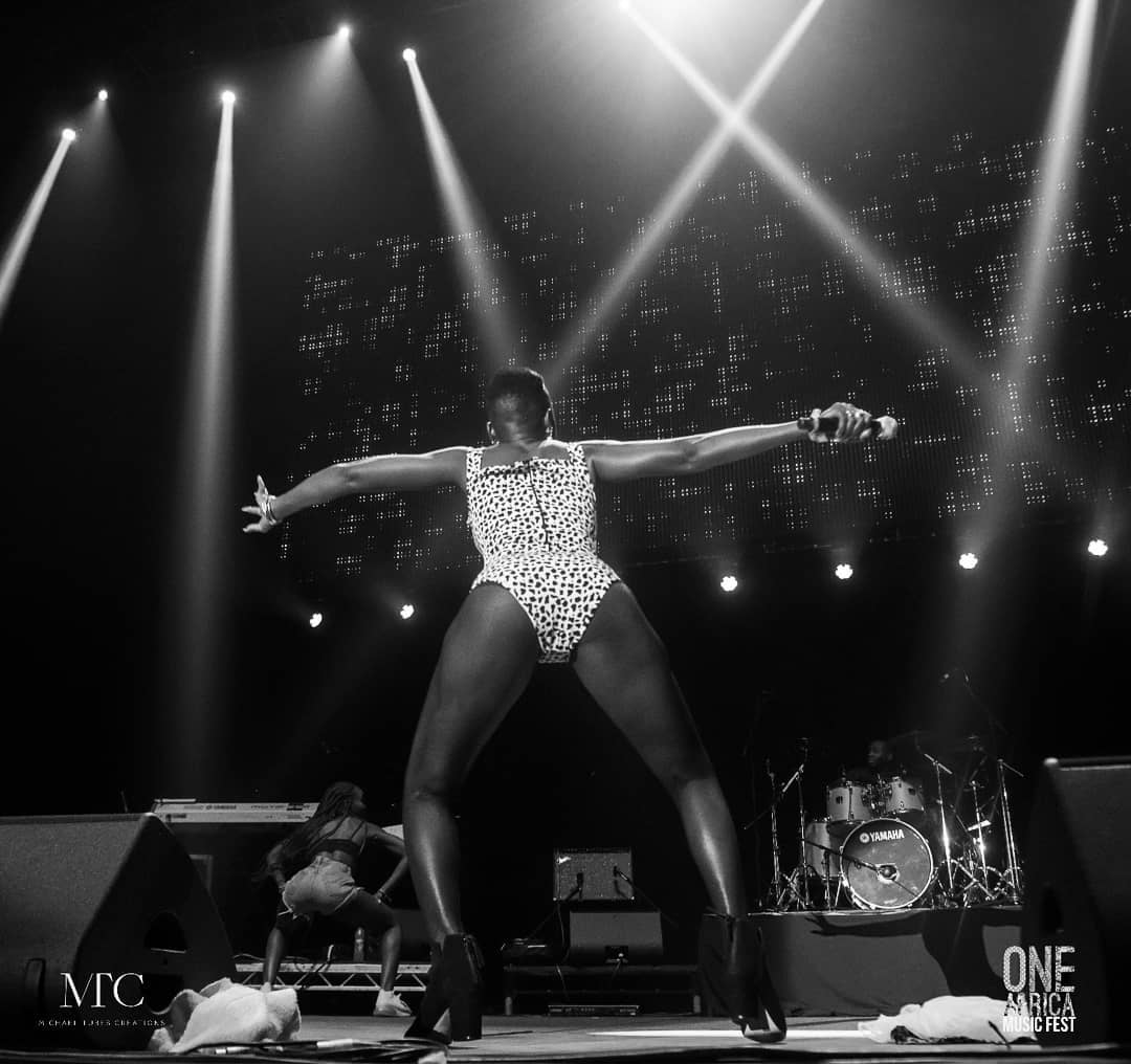 Akothee performing in London
