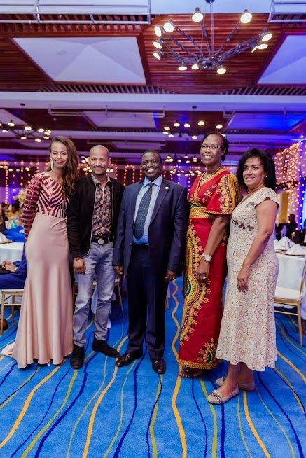 L-R: Susan Kaittany, Embakasi East MP Babu Owino ,Nairobi Women Representative Esther Passaris, Dr. Julius Kipng'etich and Rosemary Kaittany