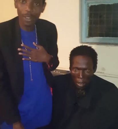 So sad! Eric Omondi introduces his blood brother who has been destroyed by drugs