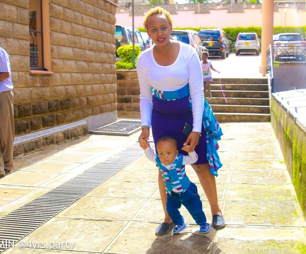 Nelius Mukami with her son
