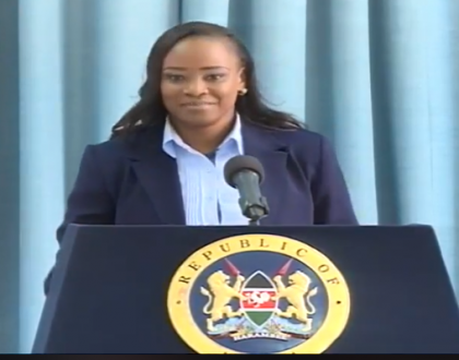 Kanze Reloaded!! Kenyans happy with Kanze Dena's first press briefing