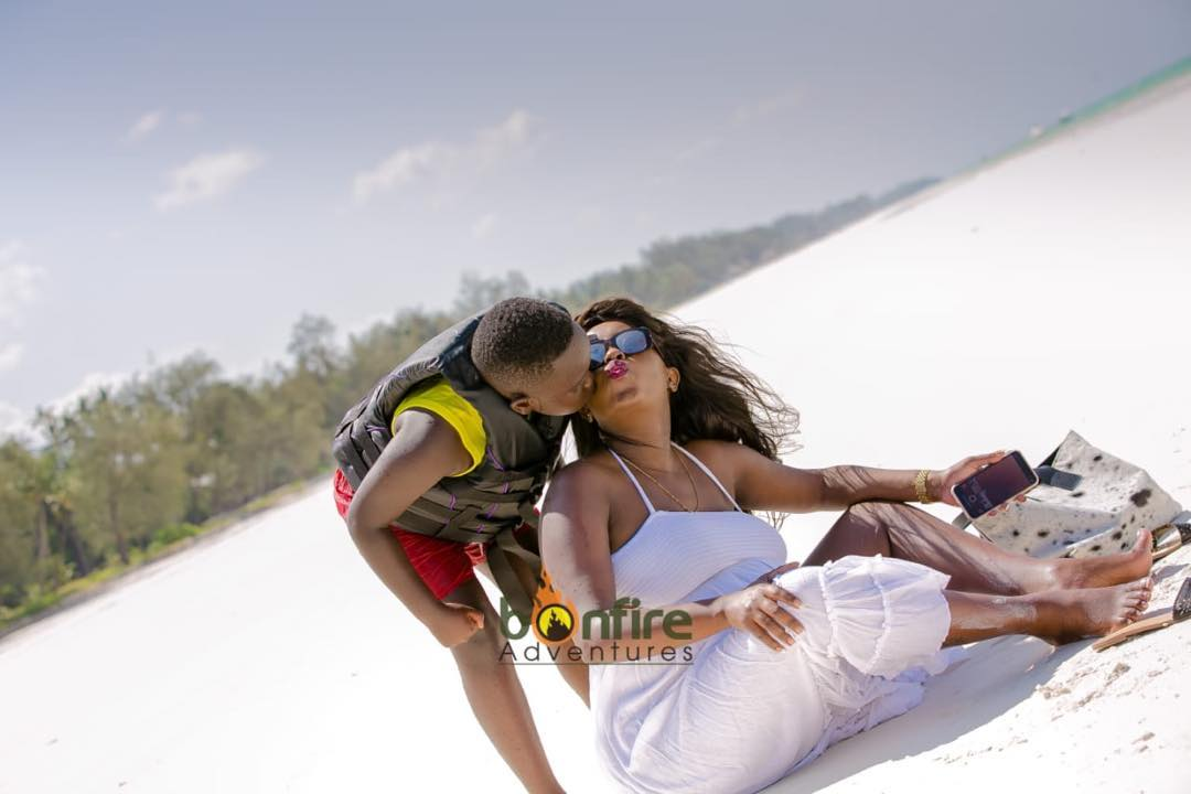 Lillian Muli with her firstborn son