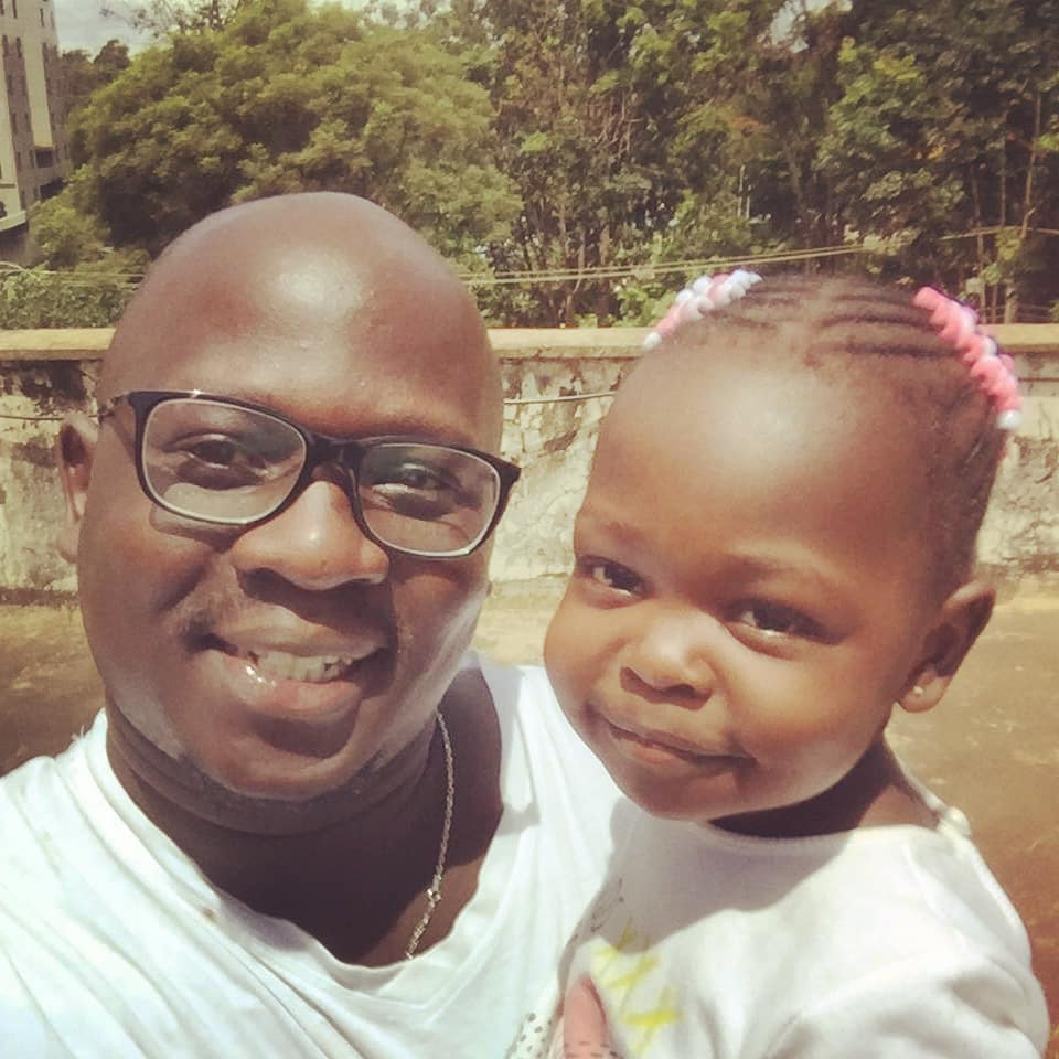 Lynda Nyangweso's husband Lance Osiro and daughter Megan Brooklyn Hawi Osiro